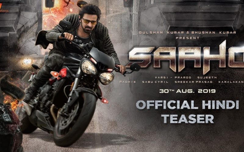 Thrill at its peak with the new poster of Saaho, Trailer to be out on 10th August