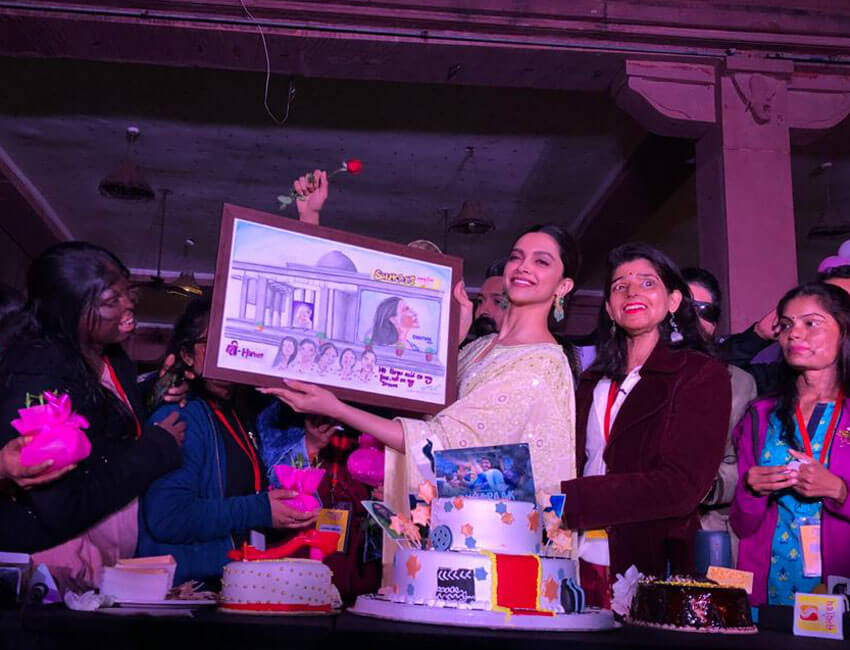 Deepika Padukone, Meghna Gulzar, and Vikrant Massey meet acid attack survivors in Capital