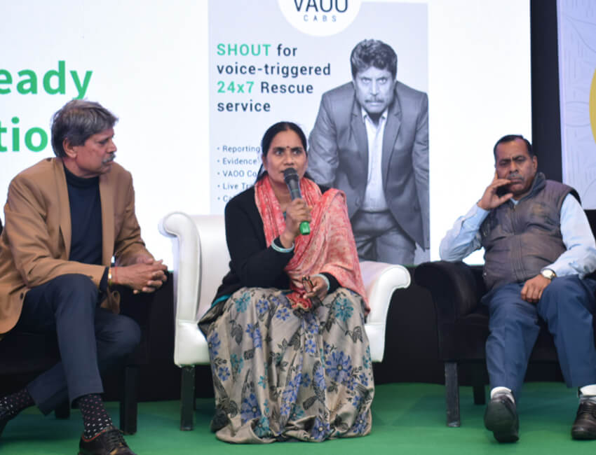 Kapil Dev and Asha Devi Launched 'SHOUT' – a voice-triggered complete safety feature by VAOO