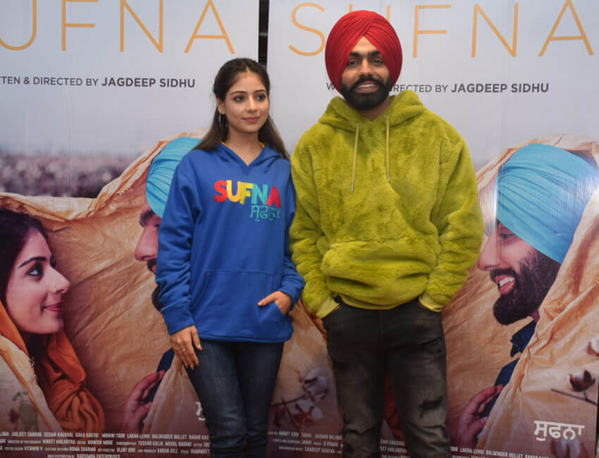 Sufna Movie Starcast Witnessed In Delhi For The Promotions