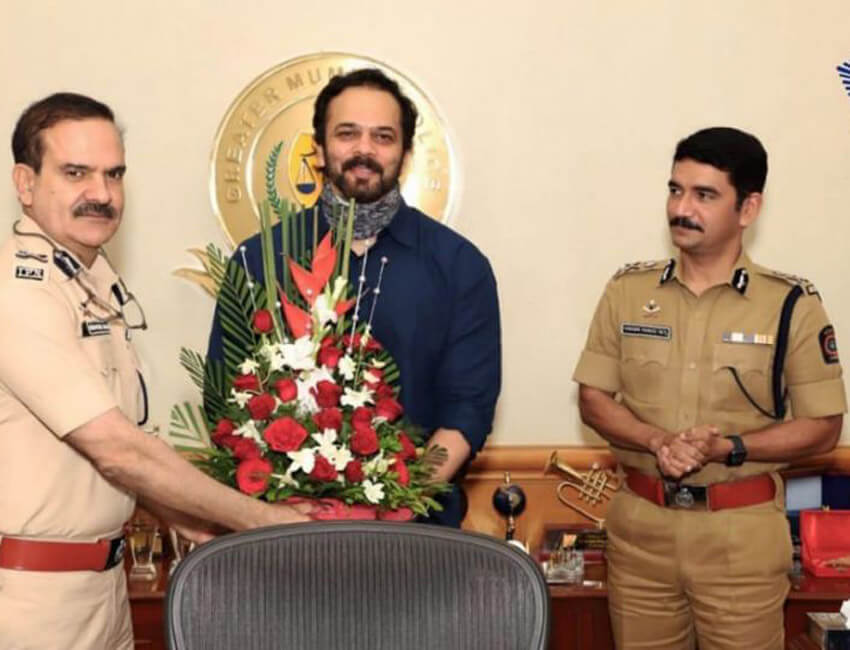 Mumbai Police honours Rohit Shetty