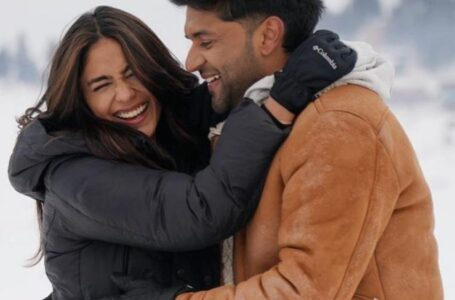 Mrunal Thakur to romance Guru Randhawa in an upcoming music video, the pair look adorable as they shoot for the video in snowy locales of Kashmir