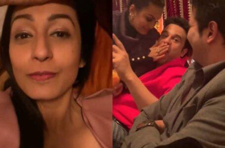 Krushna abhishek funny jokes with Nisha Rawal And Karan Mehra