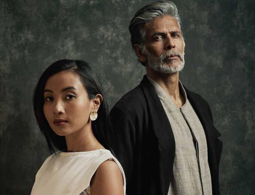 Celebrity couple Milind Soman and Ankita Konwar starred in the new peta India vegan fashion look book at Lakmé Fashion Week