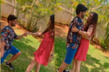 Rahul Vaidya Going Down On His Knees For His Lady Love ...!