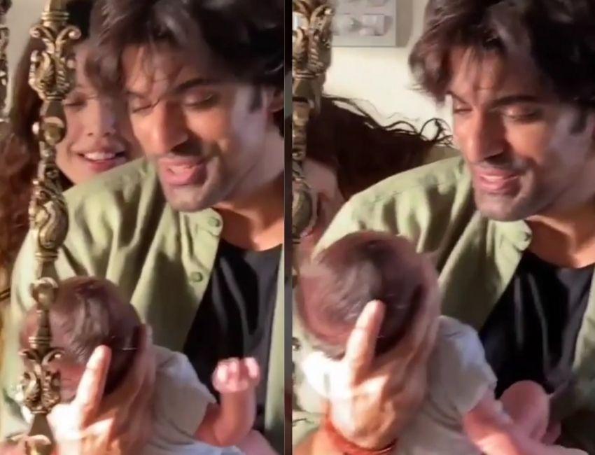 Addite Malik share some parenthood with baby Ekbir ..!