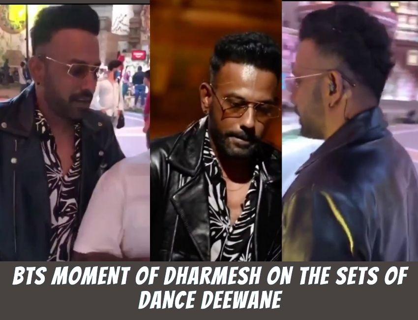 BTS moment of Dharmesh on the sets of Dance Deewane..!