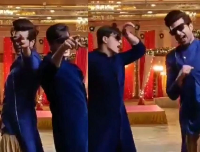 Karan Kundra and Mohsin Khan BTS moments of them dancing on sets of YRKKH..!