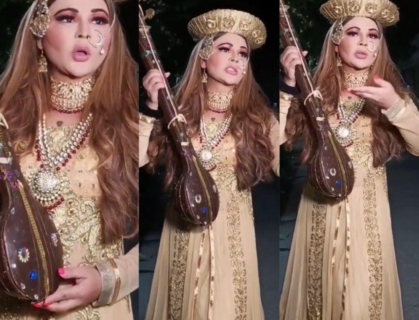 Rakhi Sawant dresses as Mastani to look for her Bajirao on the streets of Mumbai.