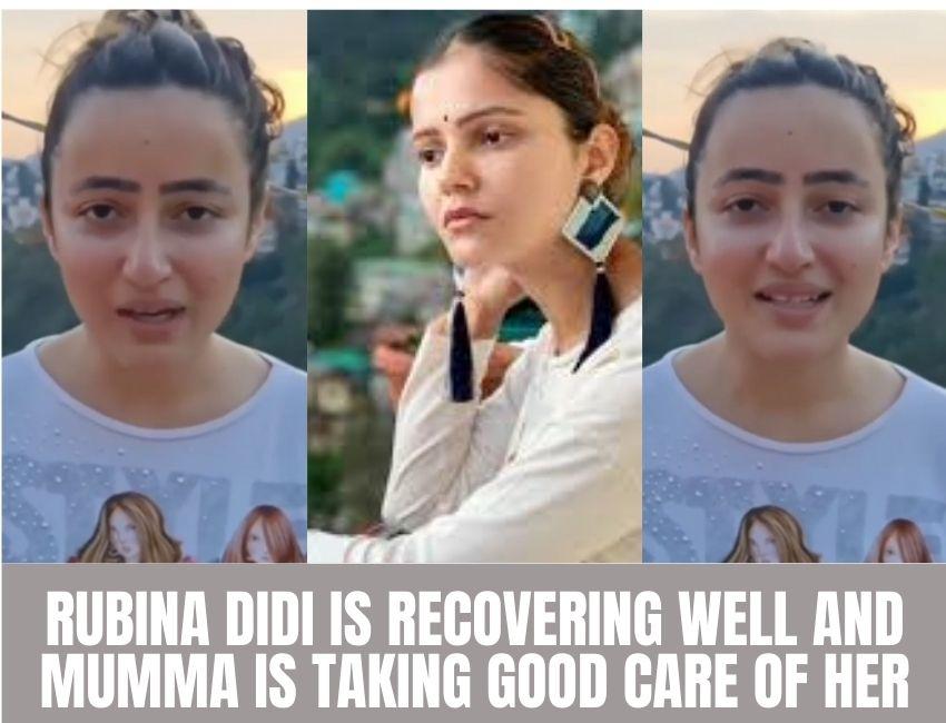 Rubina Dilaik's sister Jyotika Dilaik shares an update about her sister's health..!