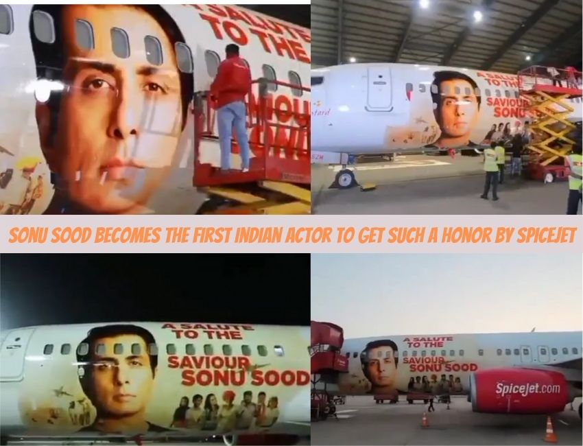 Sonu Sood becomes the first Indian actor to get such a honor by Spicejet.!