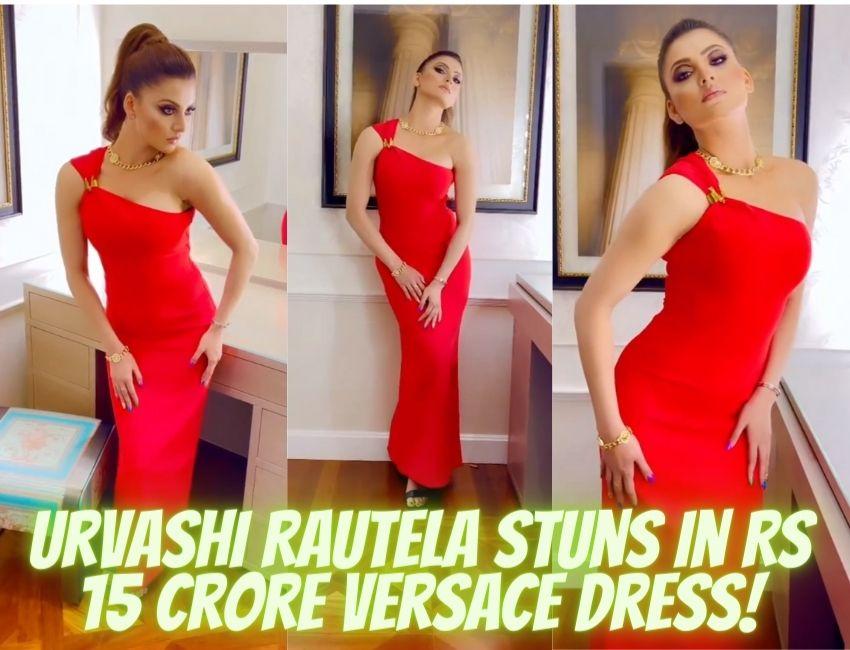 Urvashi Rautela Stuns in Rs 15 Crore Versace Dress…!
