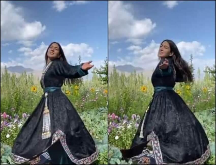 How Sara Ali Khan enjoyed amidst the nature and Sunflower Farm in Ladakh  