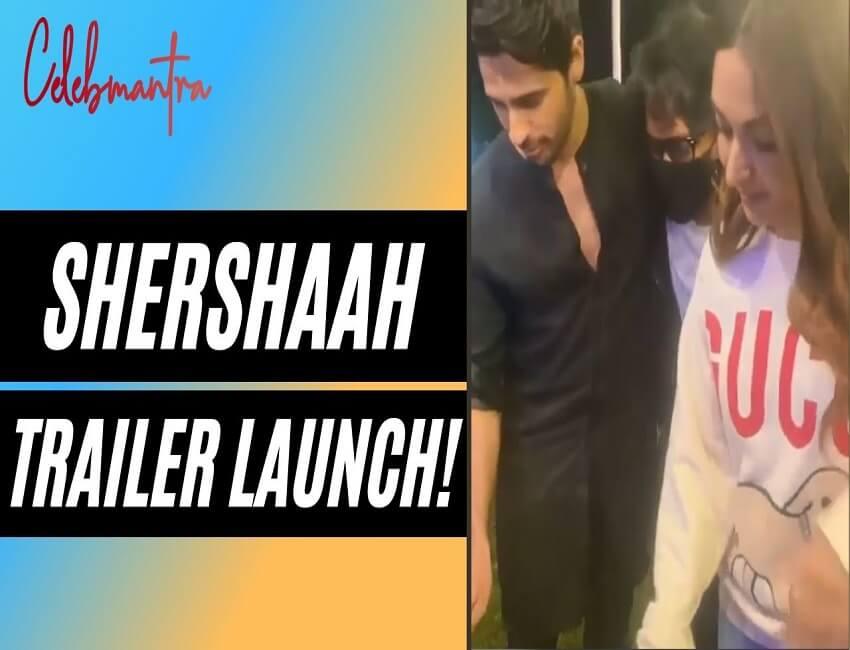 WATCH: How did Sidharth Malhotra and Kiara Advani celebrate Shershaah Trailer Launch? | Karan Johar|